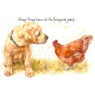 ' Henny Penny knew all the farmyard gossip' - CS067