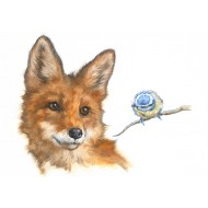 Foxy Friends Fine Art Card - CA102