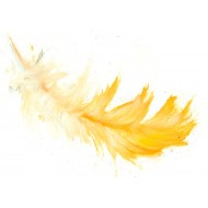 Yellow Feather - gift tag GT007