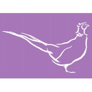 Purple Pheasant - gift tag  GT015