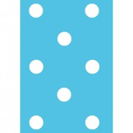 Blue Polka Dot - gift tag GT020