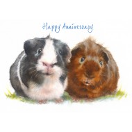 ' Happy Anniversary Guinea Pig Card - CS074