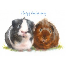 'Happy Anniversary Guinea Pig Card' - CS074