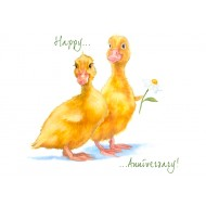 ' Happy Anniversary Ducky Card - CS100