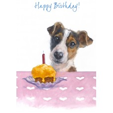 'Happy Birthday Jack Russell Card' - CS090