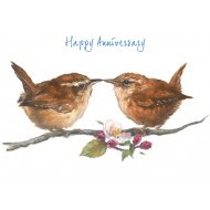 ' Happy Anniversary Wren Card - CS073